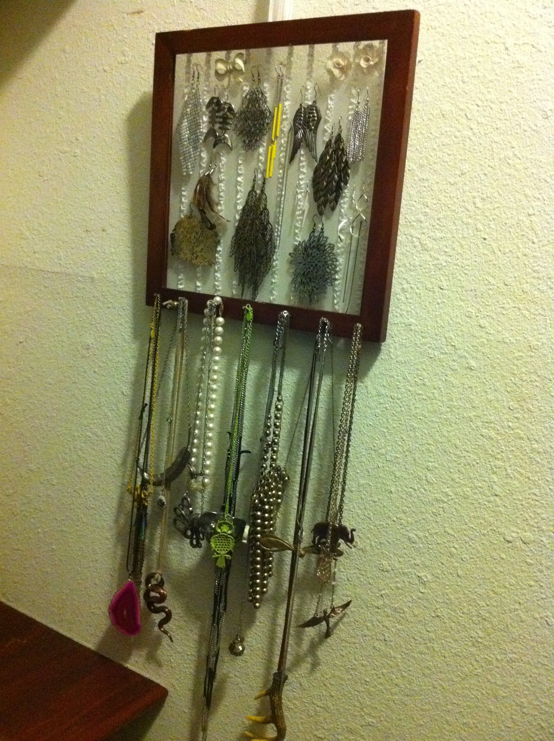 How to Make an Earring (and Necklace) Holder